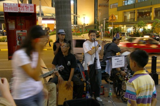 street musicians in Kuala Lumpur